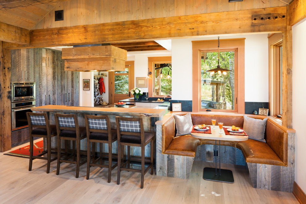 Rustic Eat-In Kitchen