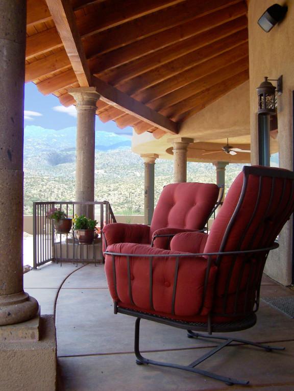 Southwestern Backyard Porch Design