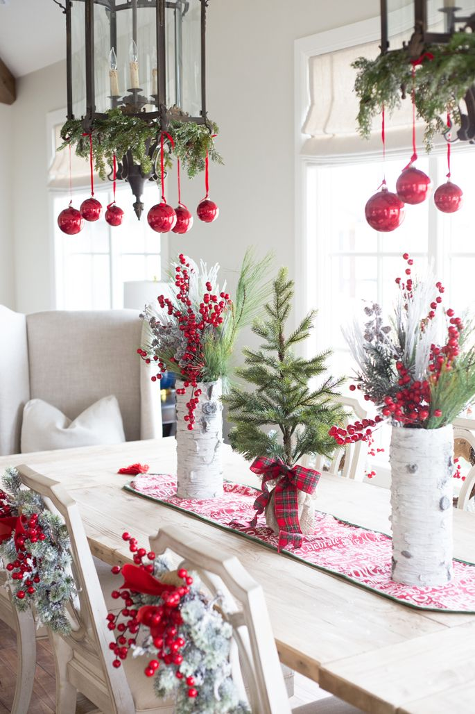beach style christmas dining room decoration ideas - Christmas Decorations Ideas 2017