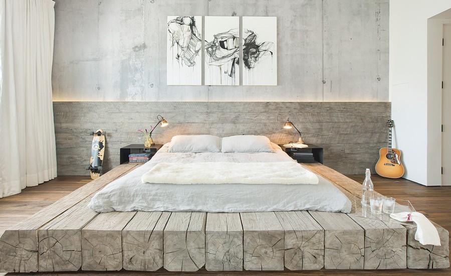 Industrial Master Bedroom