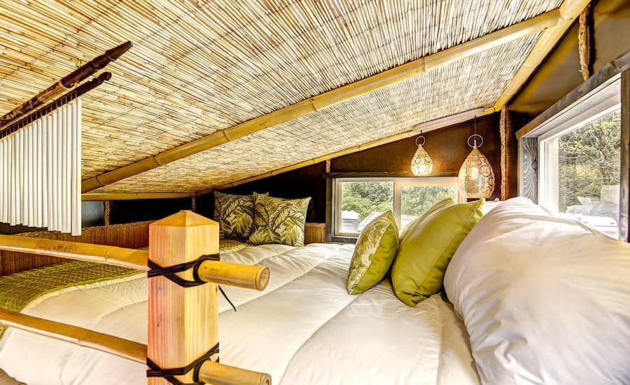 Asian Loft-Style Bedroom