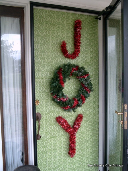 Christmas Door Decorating Ideas with Wrapping Paper