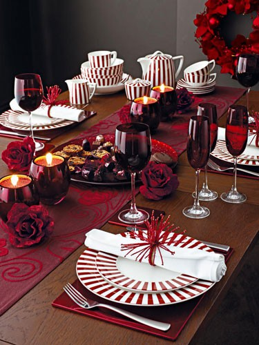Christmas Table Setting Party Idea
