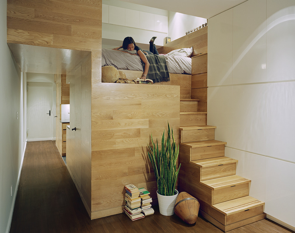 Contemporary Loft-Style Bedroom