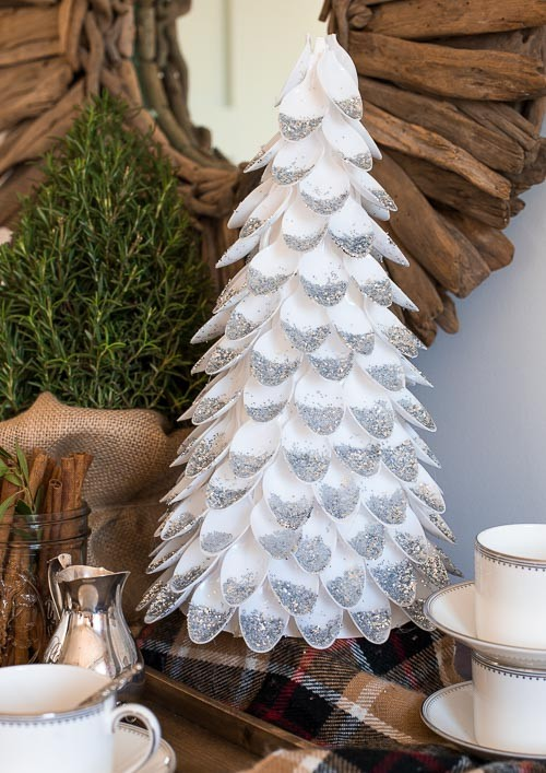 DIY Christmas Tree Plastic Spoon Craft