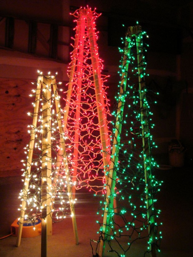 DIY Outdoor Christmas Tree