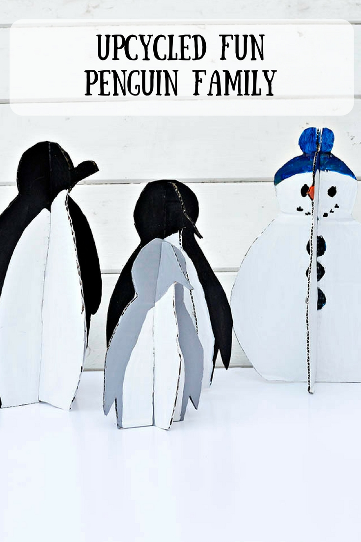 DIY Upcycled Penguins and Snowman