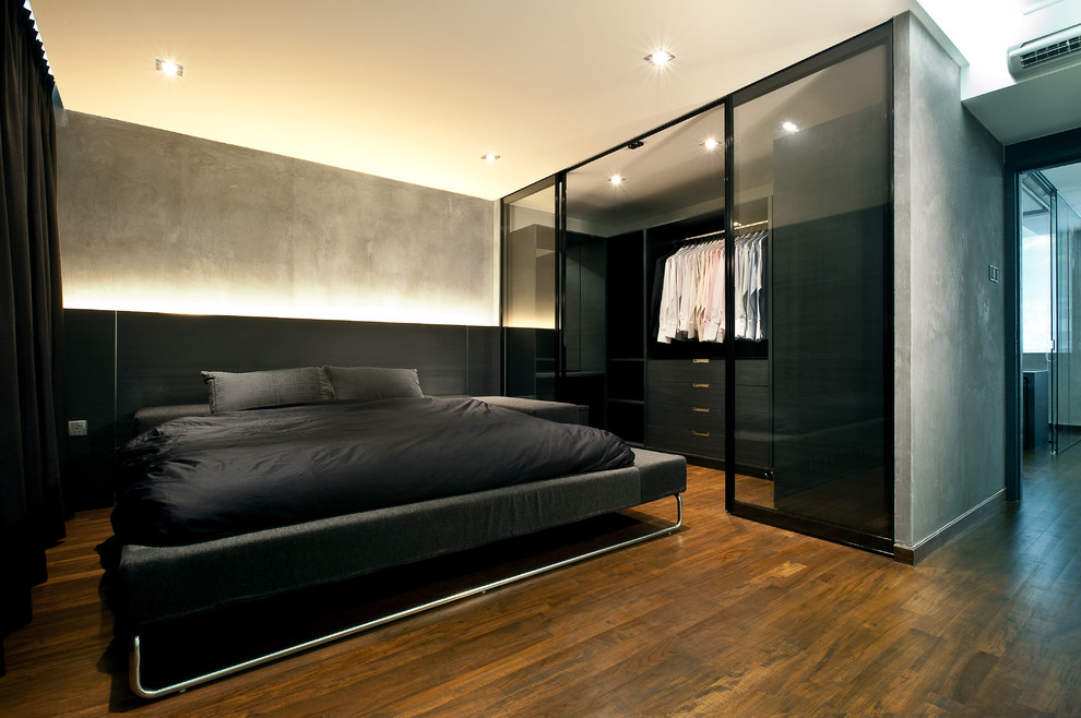 Source: Tamaramagel.com Dark Industrial Bedroom