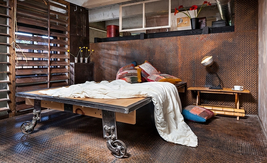 Dashing Industrial Bedroom
