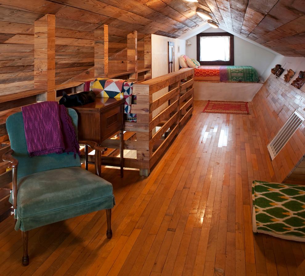Eclectic Loft-Style Bedroom