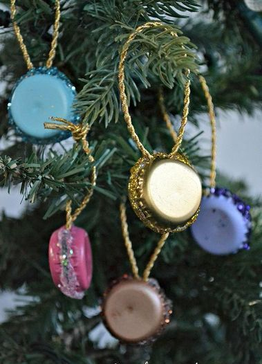 Mini Wooden Christmas Tree Ornaments