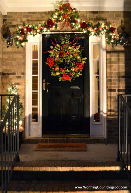 front door christmas deco ideas - Front Door Entrance Christmas Decoration