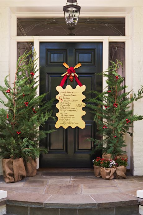 Front Door Christmas Decor Ideas