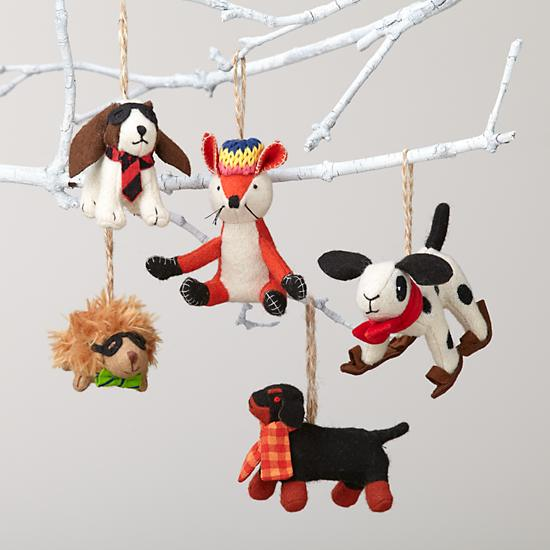 Fun Plush Animal Ornaments