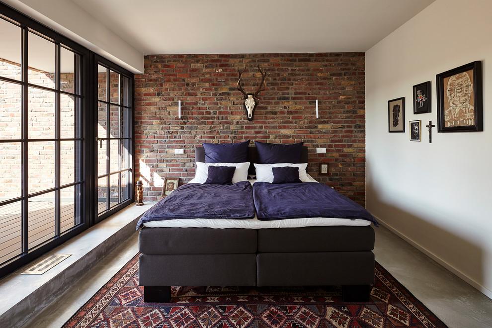 Large Window industrial-bedroom