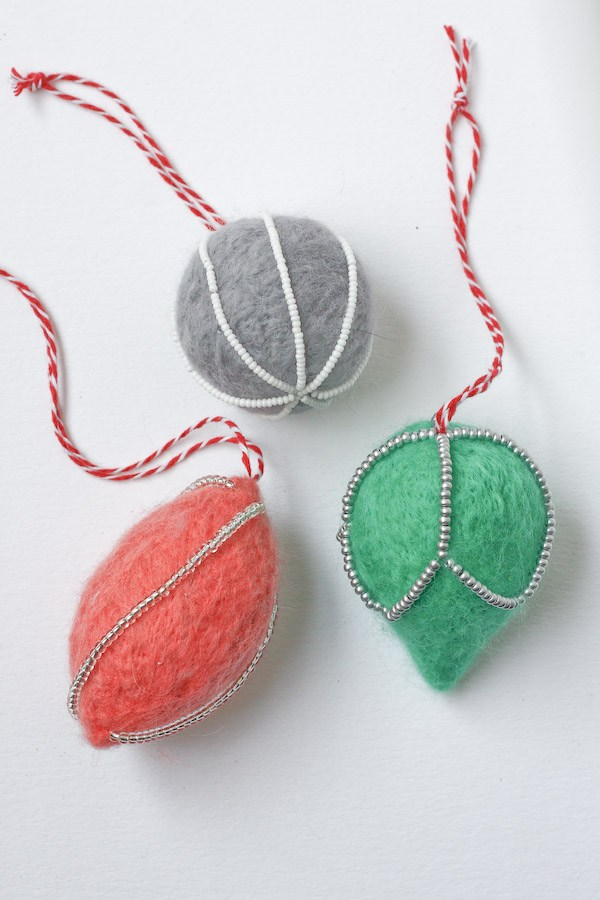 Needle Felt Christmas Decorations