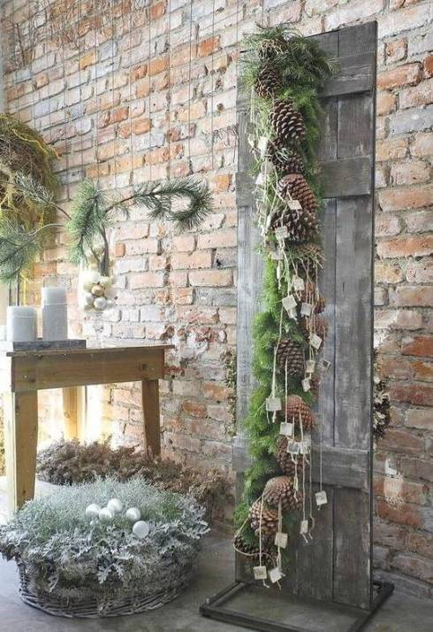 Outdoor Christmas Decorations with Pine Cones