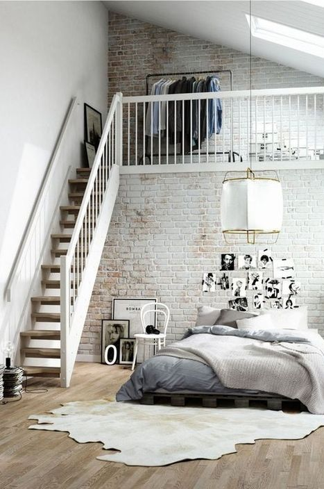 Small Loft Style Bedroom