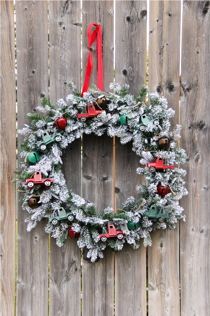Vintage Truck Christmas Wreath
