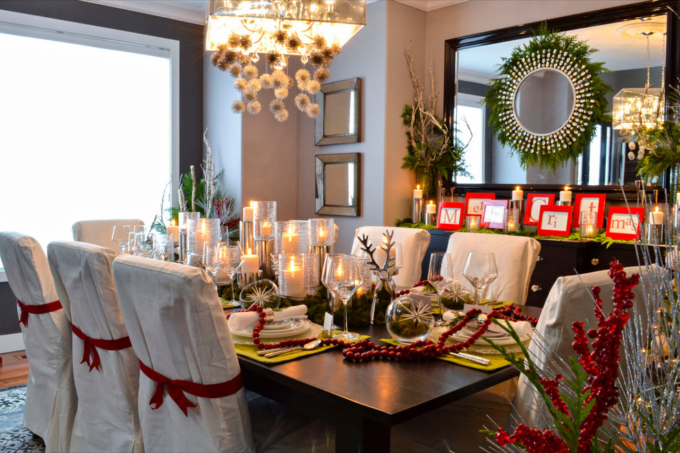 traditional dining room white traditional sunroom white christmas table setting
