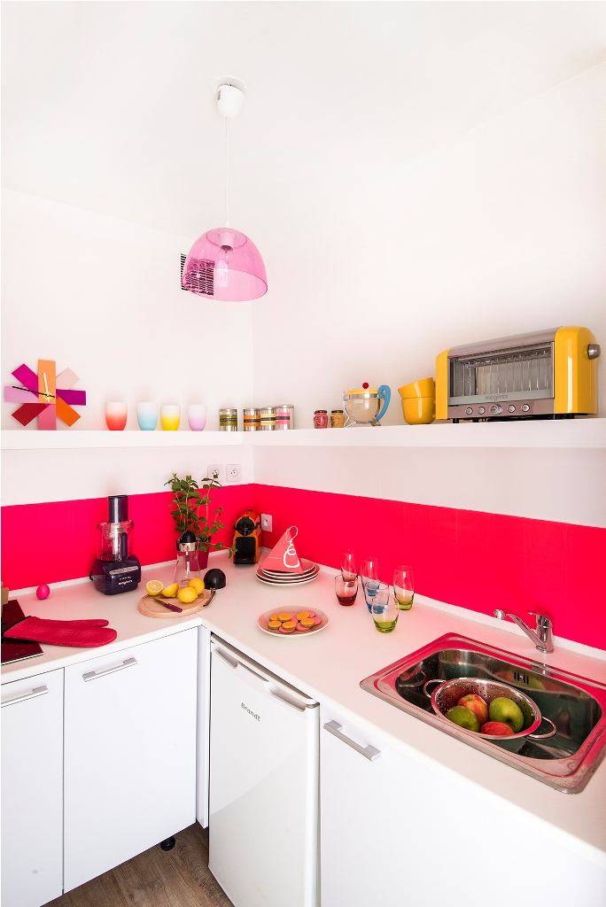 Bright Colorful Kitchen Design