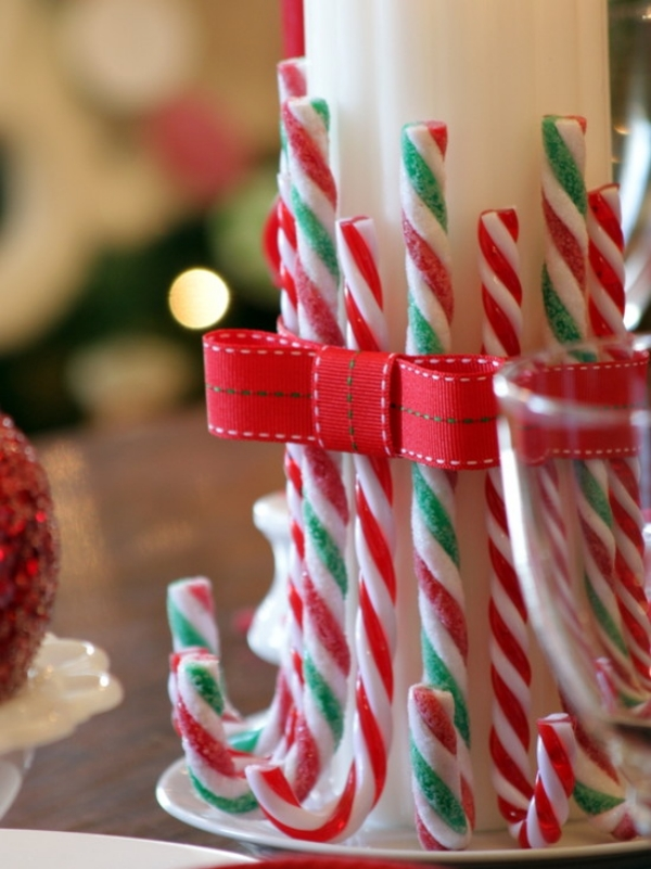 Candy Cane Christmas Decoration Ideas For Party