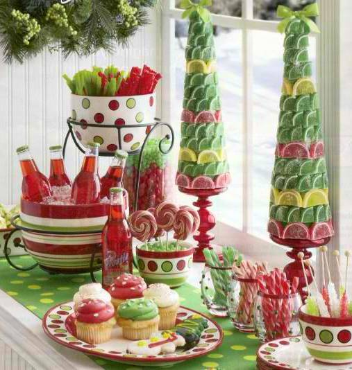 Candy Christmas Table Centerpieces