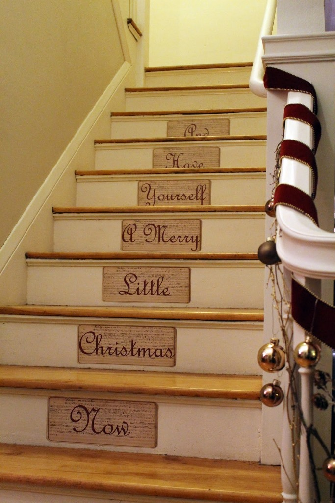 Christmas Decorating Stair Risers