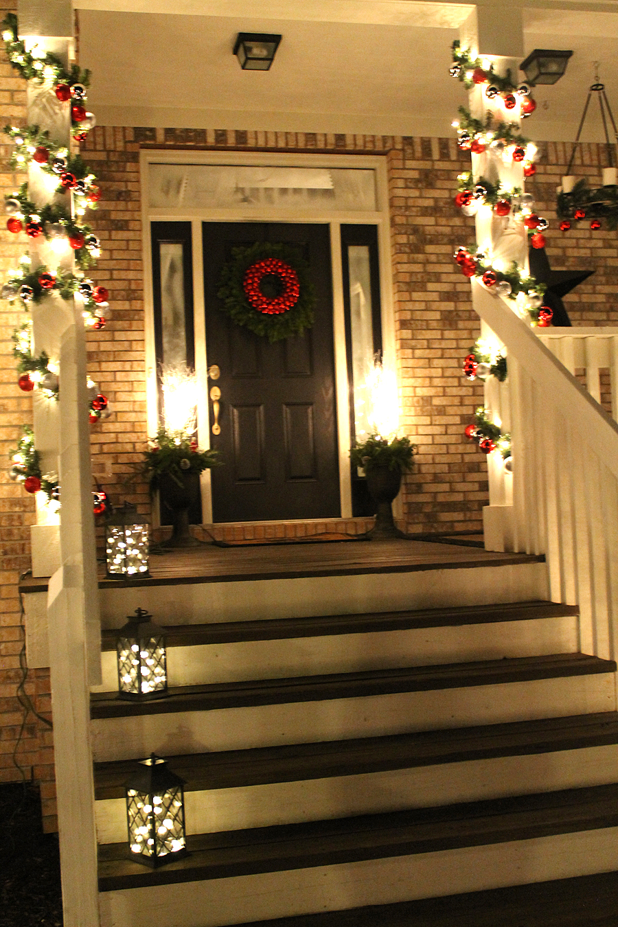 Christmas Lights On Front Porch