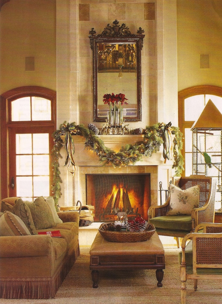Christmas Mantel Decor For Living Room