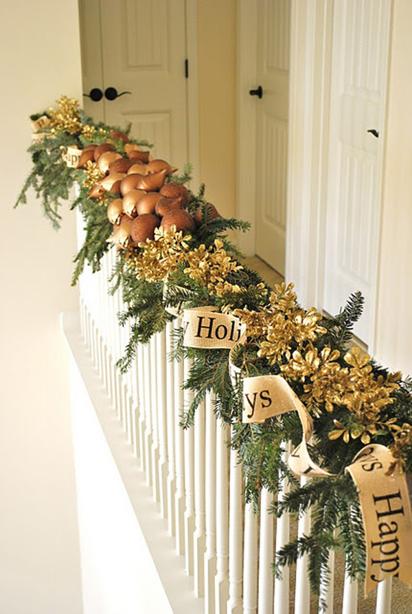 Christmas Railing Decoration Ideas