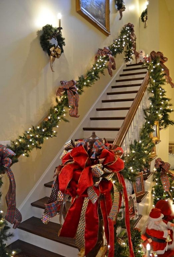 30 best christmas staircase decoration ideas  u00b7 wow decor