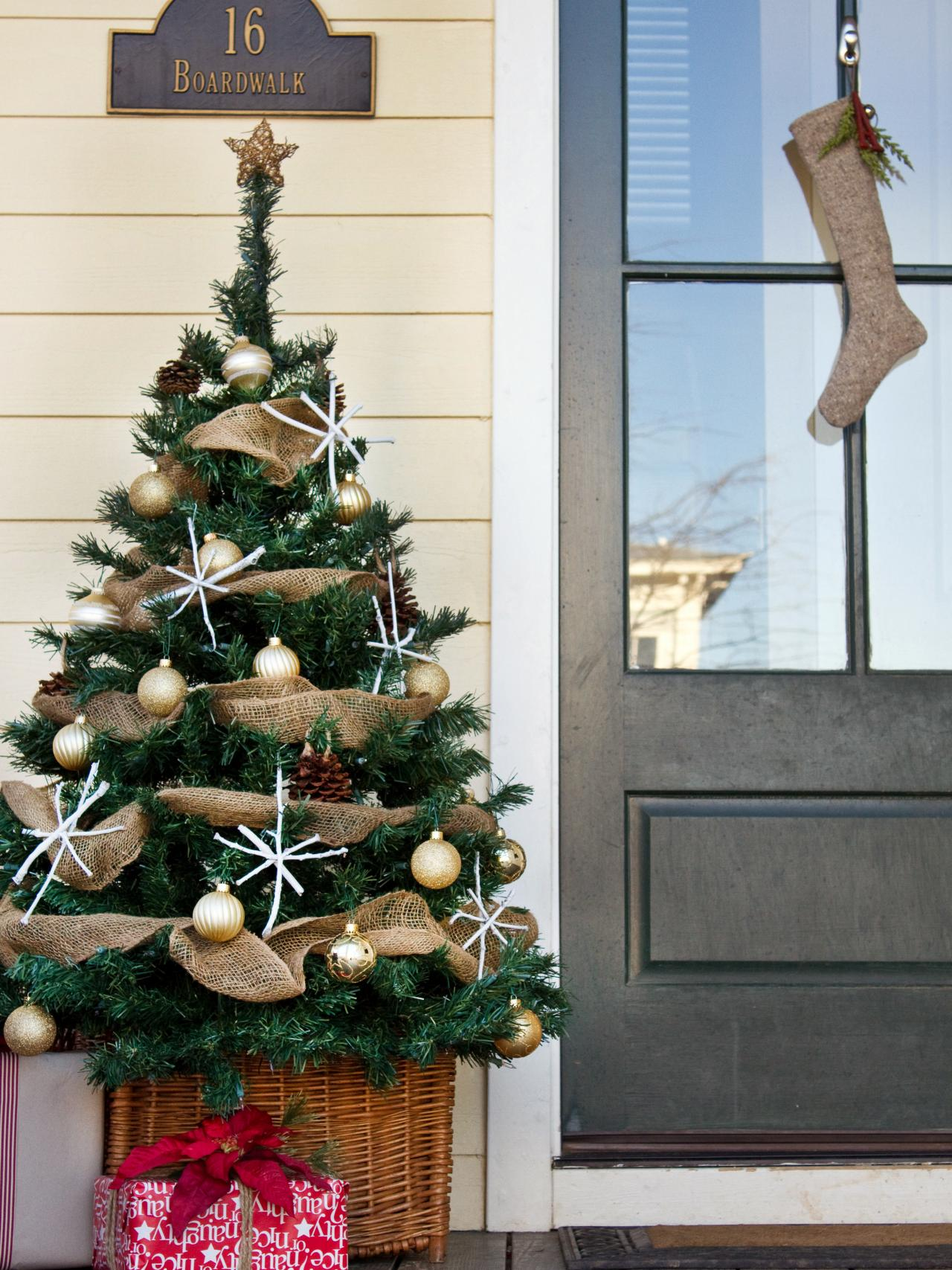 Christmas Tree On Front Porch