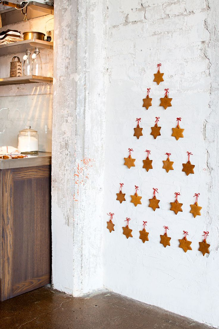 Christmas Tree Ornaments On Wall