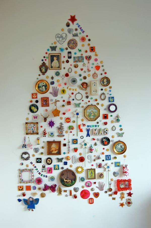 Christmas Tree Wall Collage