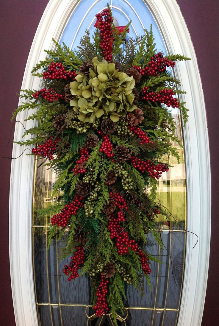 Christmas Wreath Door Swag