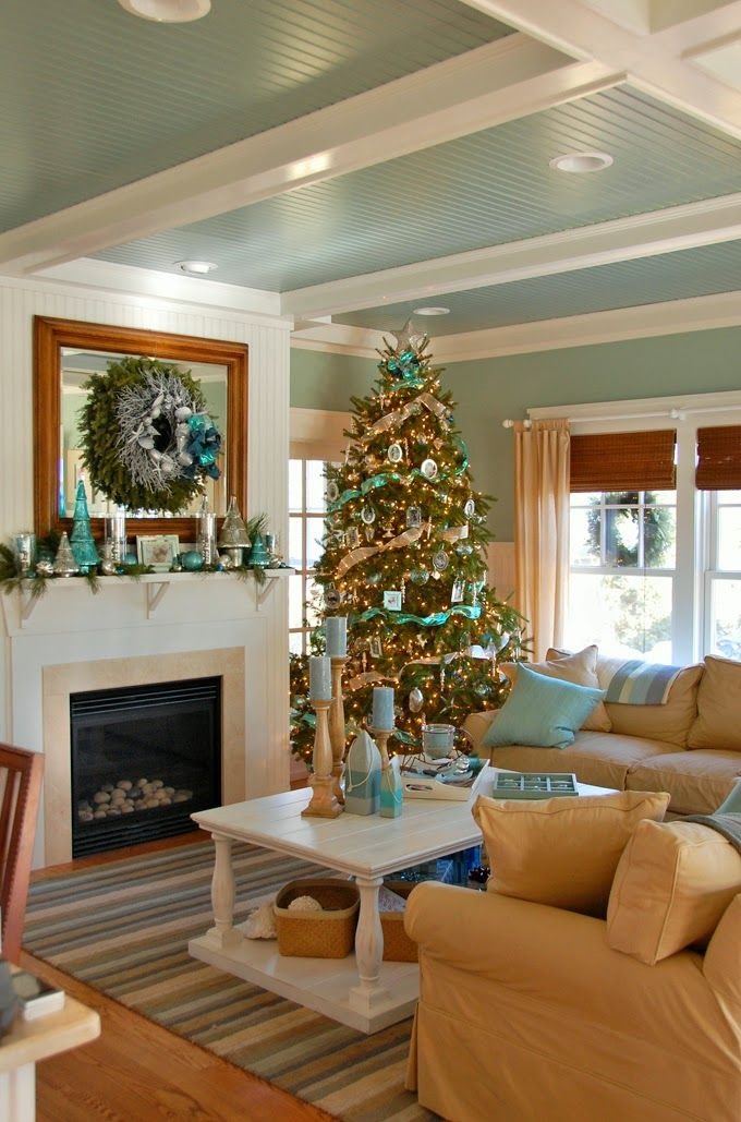 Coastal Living Room Decoration
