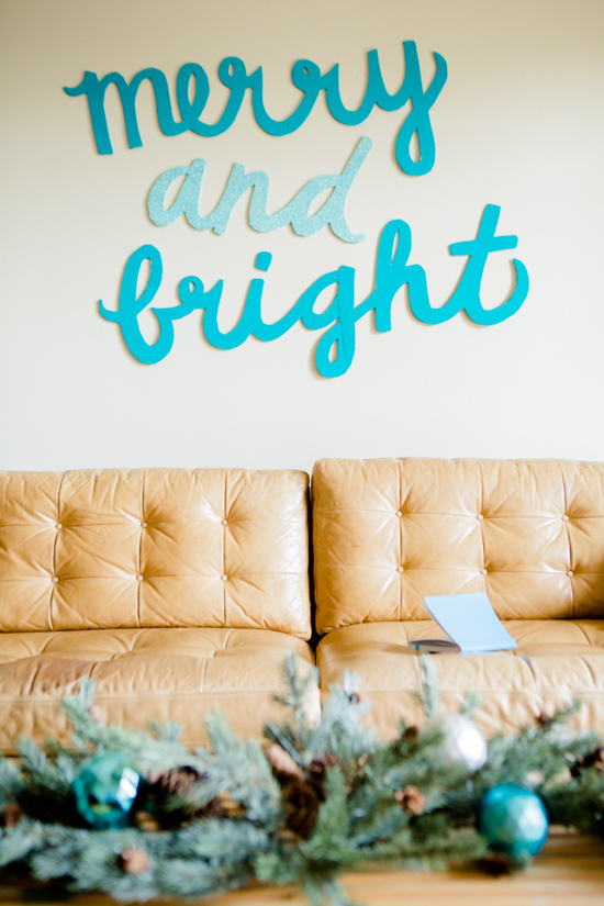 DIY Holiday Wall Art