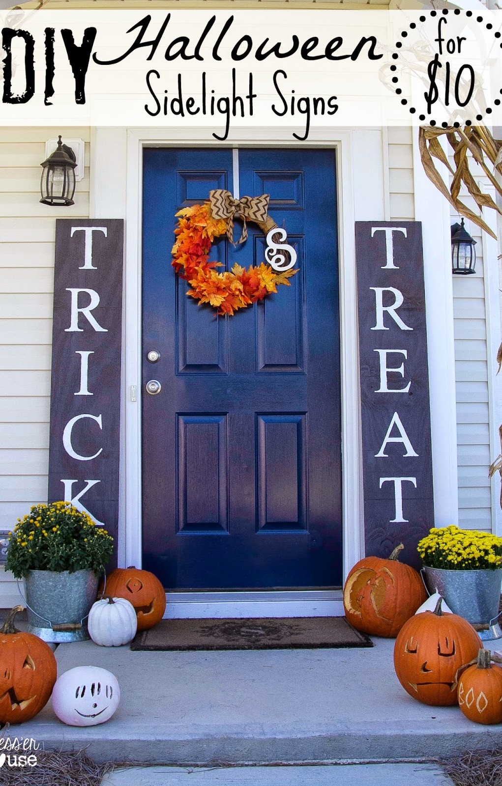30 best halloween porch decorations ideas. Black Bedroom Furniture Sets. Home Design Ideas