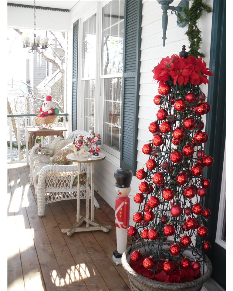 front porch christmas decorating ideas design - Front Porch Christmas Decorations Ideas