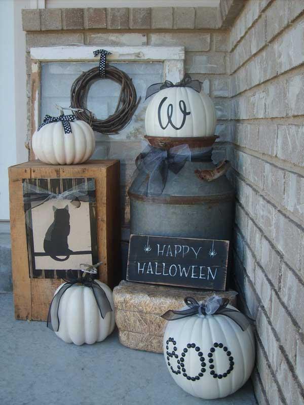 Halloween Porch Pumpkin Decoration