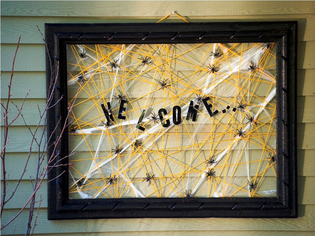 Halloween Porch Welcome Spider Web