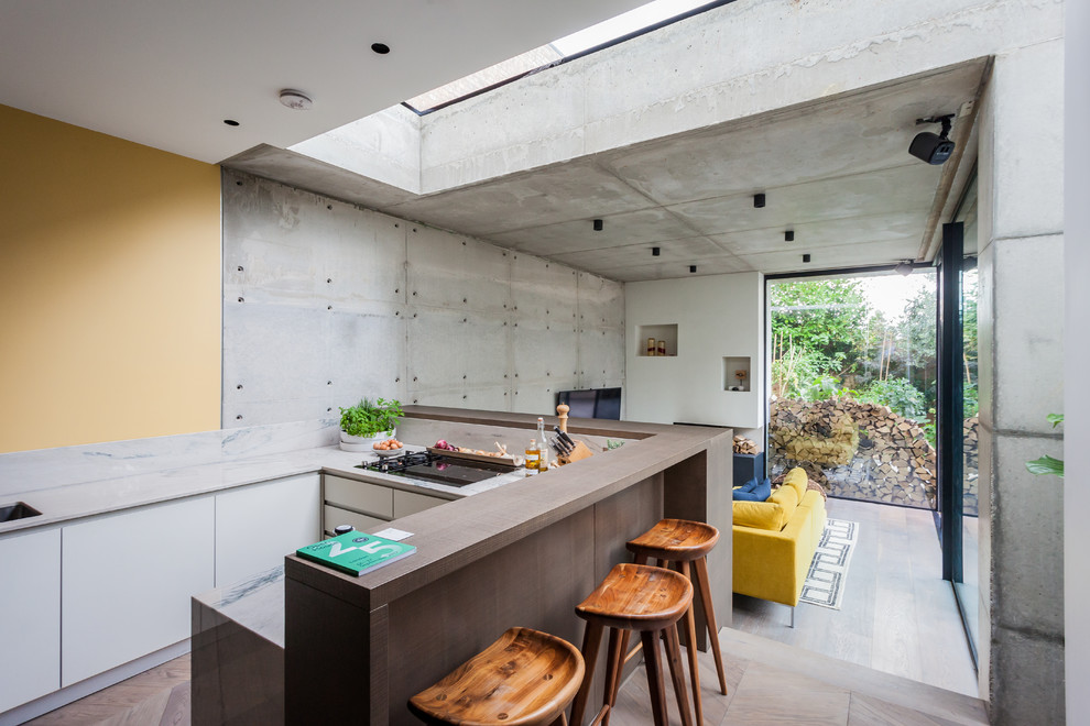 Industrial Concrete Kitchen Design