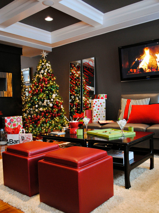 christmas living room decorations 30 amazing modern decoration ideas 14079