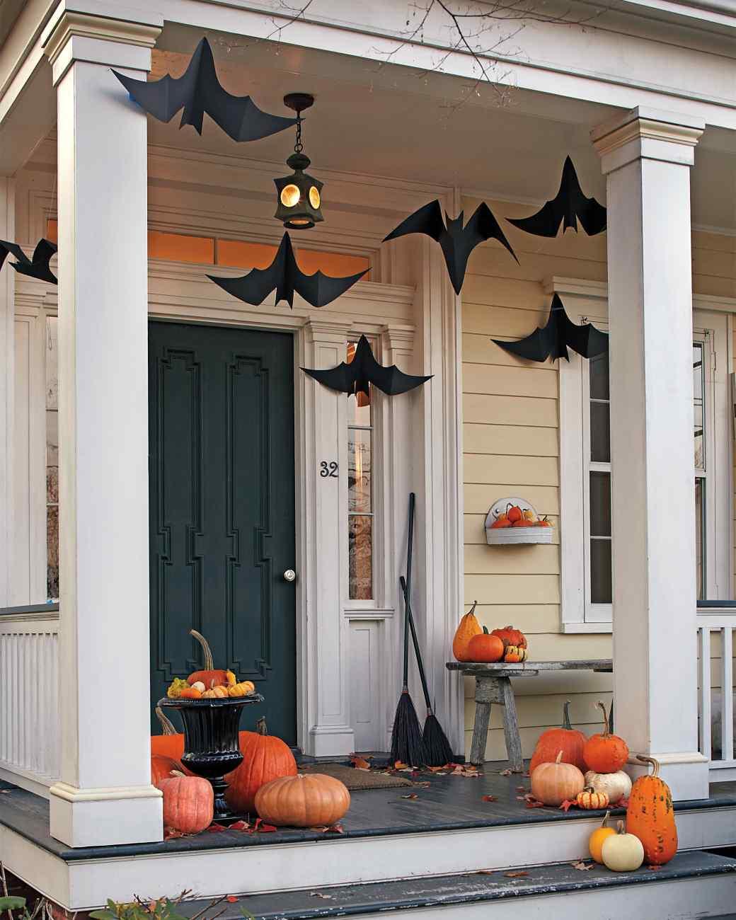 Porch Bat Decorations