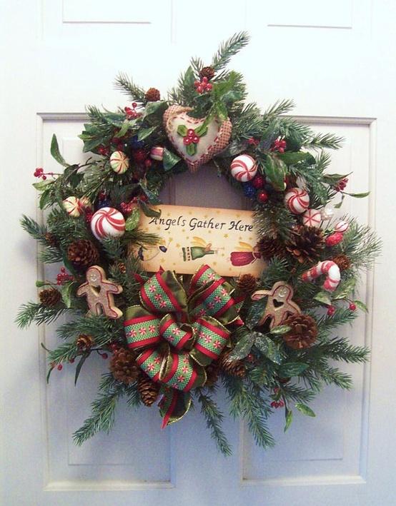 Rustic Christmas Wreath Idea