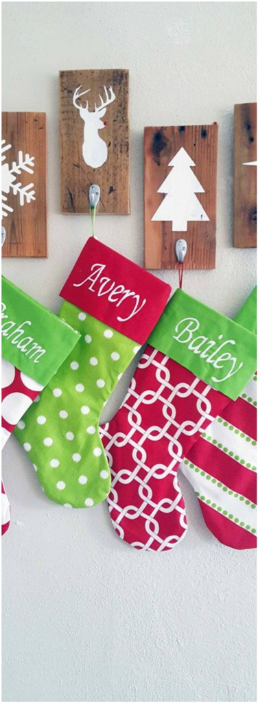 Set of 2 Christmas Stocking Holders