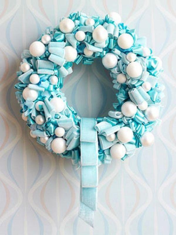Tiffany Blue Christmas Wreath