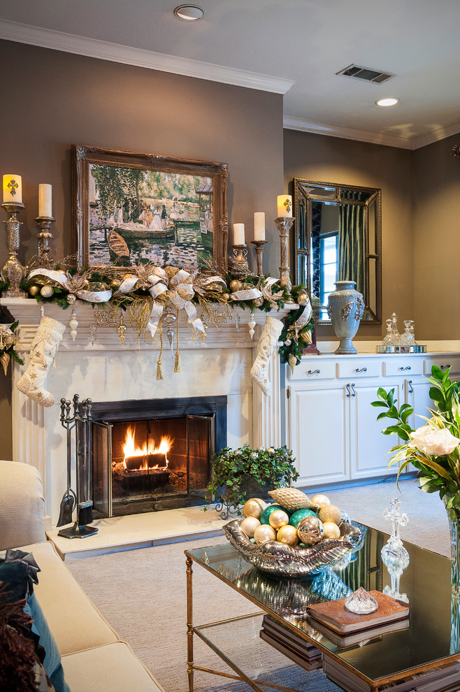 25 stunning christmas living room decor ideas - Living room themes decorating ideas ...