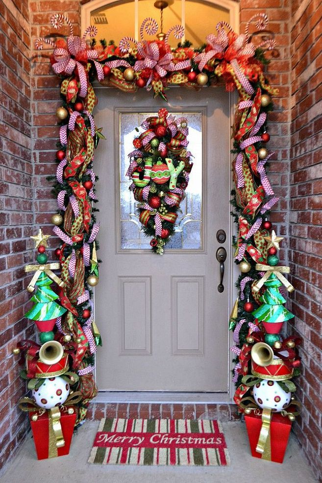 whimsical christmas front door christmas door decor